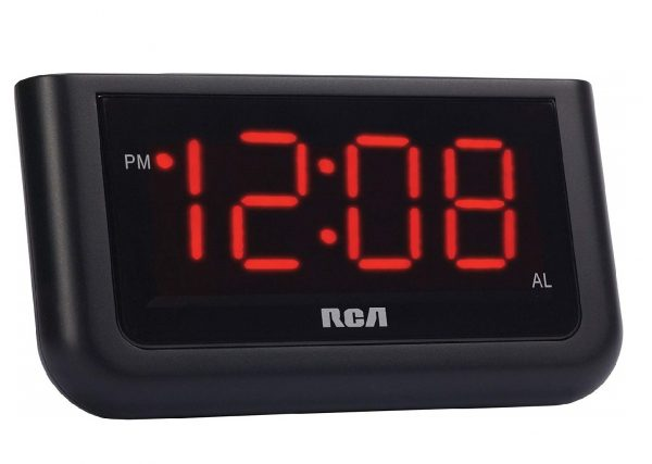 1.RCA Digital Alarm Clock with Large 1.4 Displa