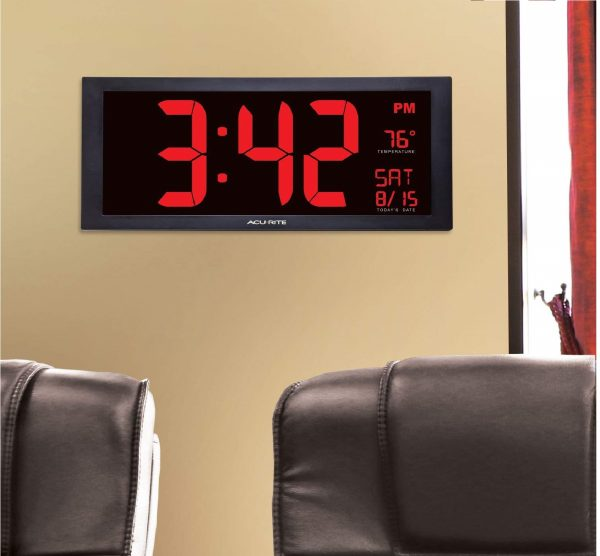 10.AcuRite 75100 Large Digital Clock