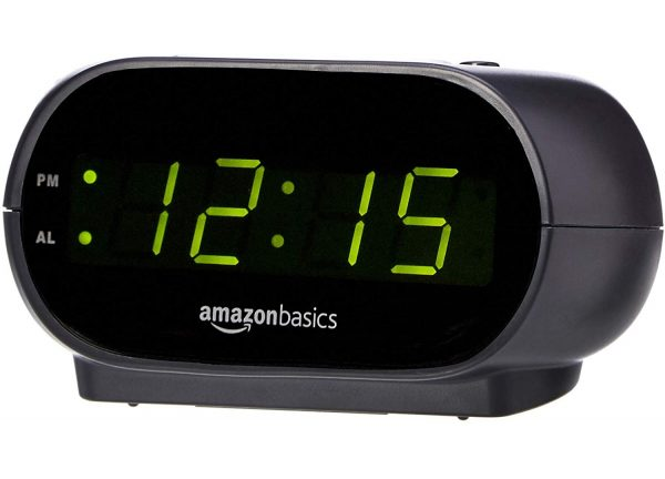 14.AmazonBasics Small Digital Alarm Clock