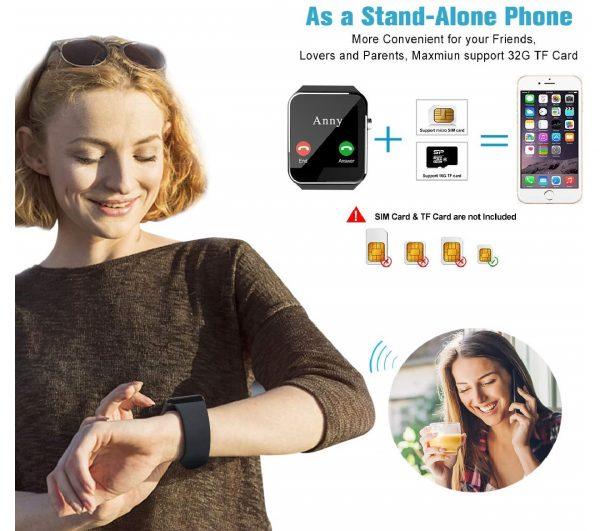 2.Android Smart Watch for Women Men, 2020 Bluetooth Smartwatch
