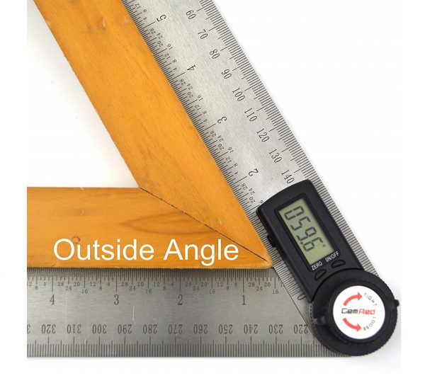 1.GemRed 82305 Digital Protractor Angle Finder Stainless Steel Ruler