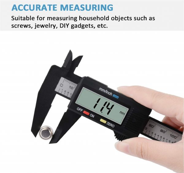 2.Digital Caliper, Adoric 0-6 Calipers Measuring Tool
