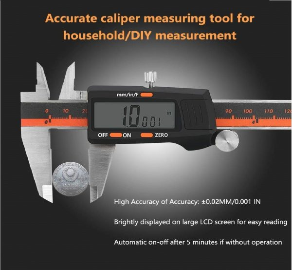 6. Digital Caliper 0-6 Vernier Caliper Digital Electronic Gauge Micrometer Measuring Tool