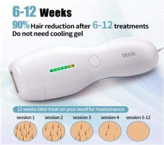 1.DEESS Hair Removal System series 3 plus Blue, Permanent Hair Removal Device 350,000 flashes Home Use, Corded Design, no downtime