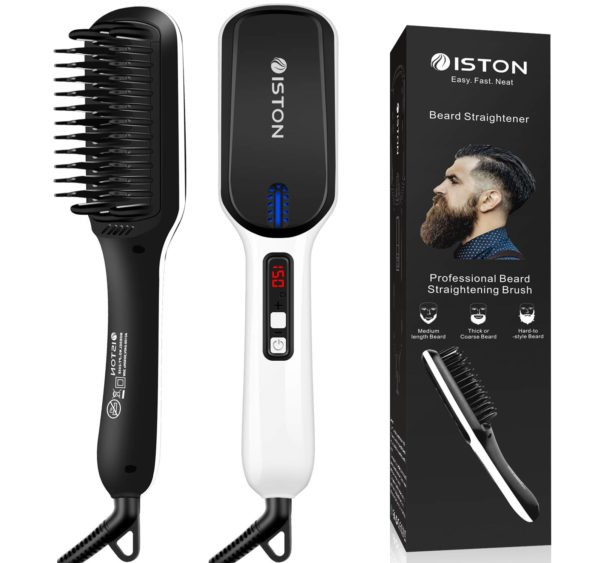 3.Beard Straightener for Men Ionic hair straightening brush Beard