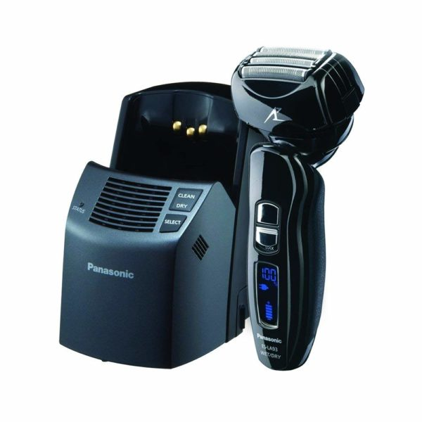 4.Panasonic ES-LA93-K, Arc4 Electric Razor, Men's 4-Blade and Dual Motor, Premium Automatic Clean & Charge Station Included