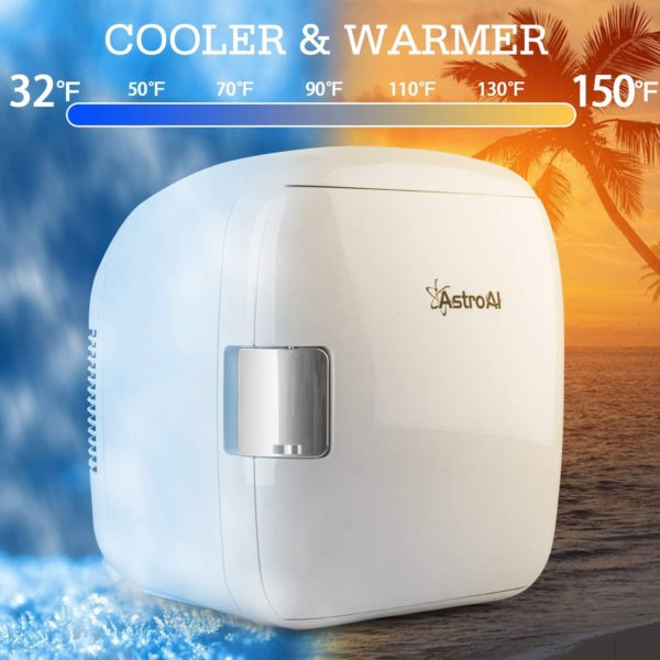 9.AstroAI 9 Liter Mini Fridge Compact Portable Cooler and Warmer for Food, Beverages