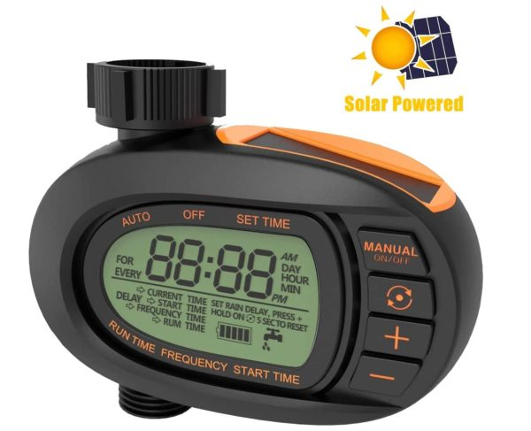 10. TACKLIFE Watering Timer, Solar Hose Faucet Timer