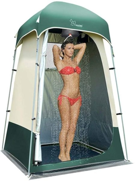 3. Vidalido Outdoor Shower Tent Changing Room Privacy Portable Camping Shelters