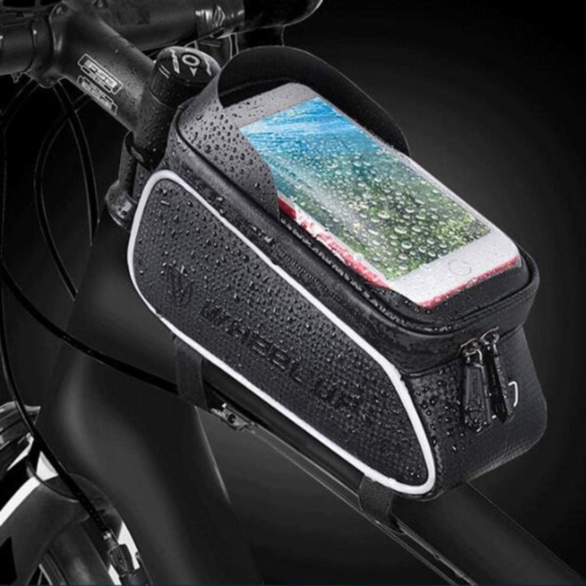 Waterproof Bicycle Bike Cycling Front Tube Frame Bag Cell Phone Holder Case MTB
