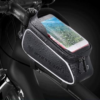 5. MOZOWO Bike Frame Bag, Bicycle Phone Holder, Waterproof Cycling Front Top Tube Pouch Bike