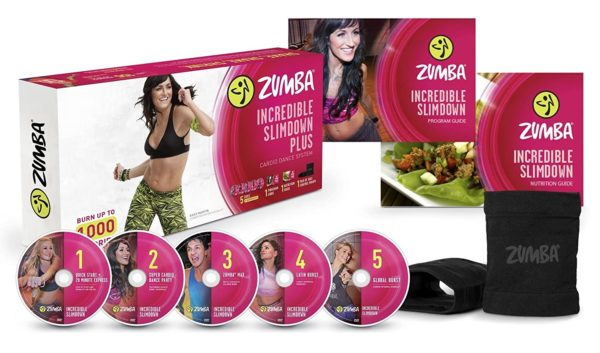 6. Zumba Incredible Slimdown Weight Loss Dance Workout DVD System