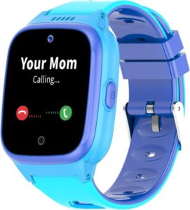 blue color smartwatch for kid