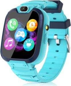 Blue smartwatch for kid and teen