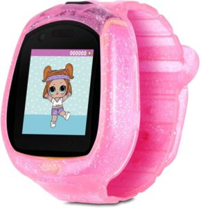 Pink transparent watch for kid