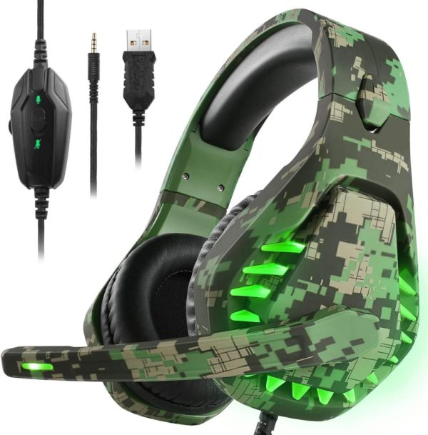 10. Butfulake Noise Cancelling Xbox one Gaming Headset with 7.1 Surround Sound Stereo