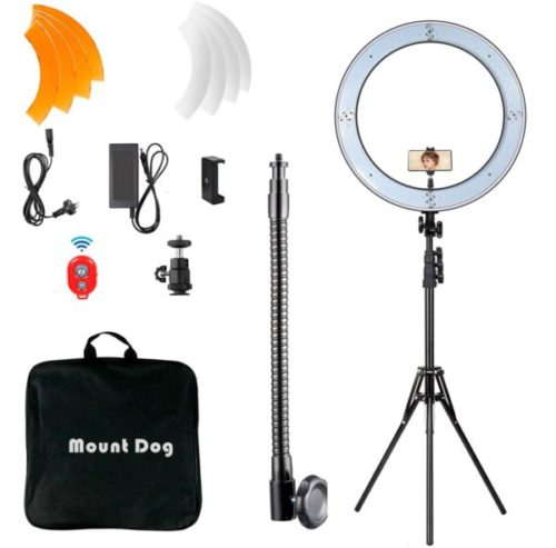 10. Mountdog Selfie LED Ring Light with Stand