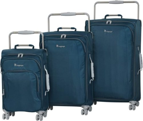 11.IT Luggage 31.5 World's Lightest 8 Wheel Spinner, Bossa Nova With Vapor Blue Trim, One Size
