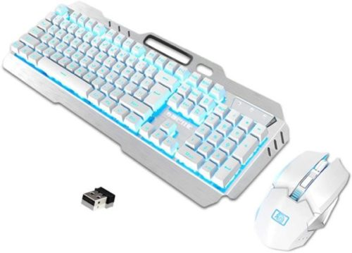 14. LexonElec Rechargeable White Gaming Mouse and Keyboard Combo (2)