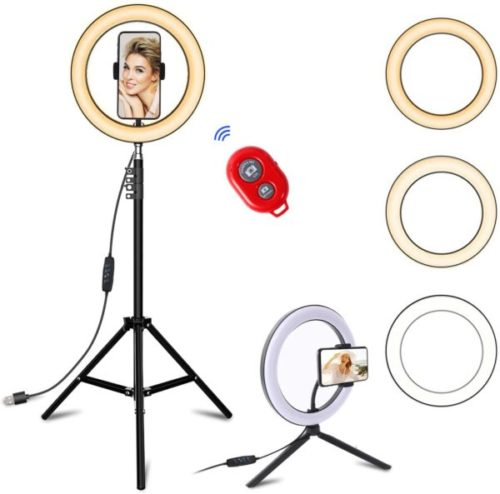 15. ZWSZZY Selfie LED Ring Light with Tripod Stand