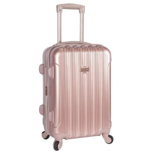 15.kensie 20 Alma Carry-On TSA-Lock Spinner Luggage, Rose Gold