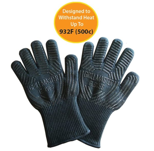 2. Grill Glove Set of 2 - Grill Gloves Heat Resistant Extreme BBQ Gloves Oven Gloves Rated to 932f