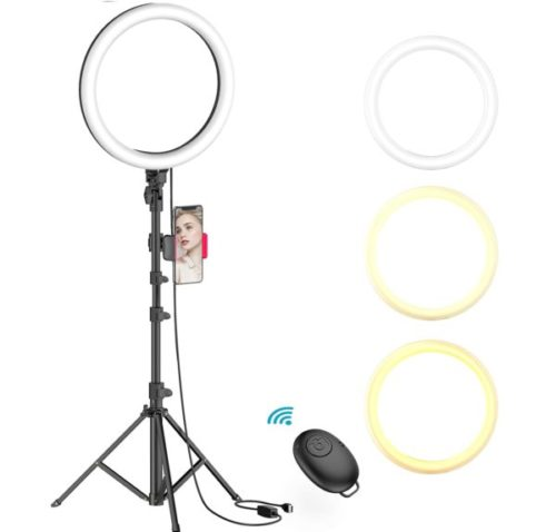 4. Erligpowht Ring Light with Stand and Phone Holder
