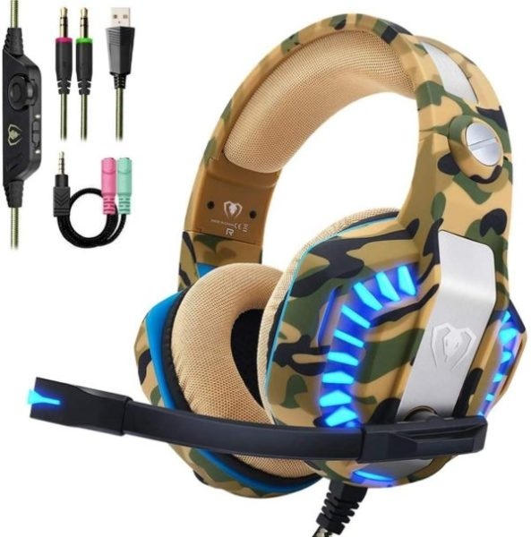 7. Beexcellent Pro Stereo Gaming Headset for PS4 Xbox One PC