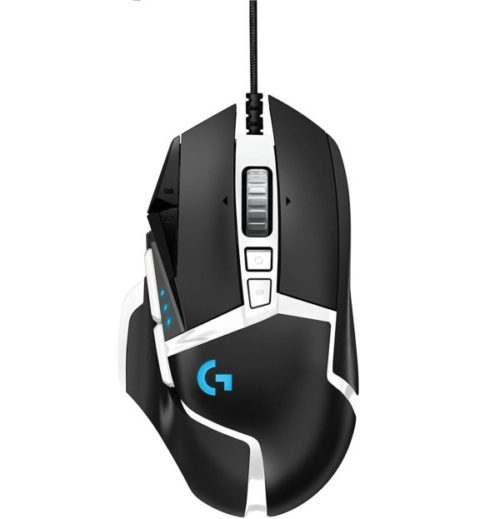 7. Logitech RGB High-Performance White Gaming Mouse