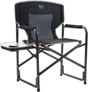 Timber Ridge Directors Chair with Side Table Aluminum Frame