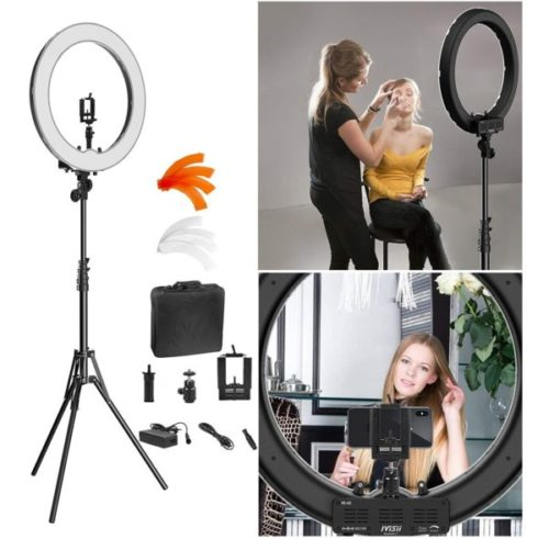 8. IVISII 18inch LED Ring Light with Stand