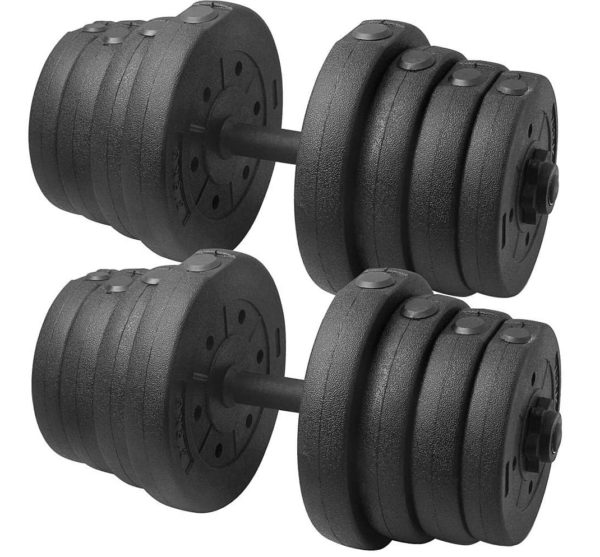 8.Topeakmart 66LB Adjustable Dumbbell Weight Set Home Gym Barbell Plates Muscle Body Training