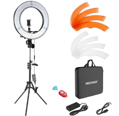 9. Neewer Kit Adjustable LED Ring Light With Stand
