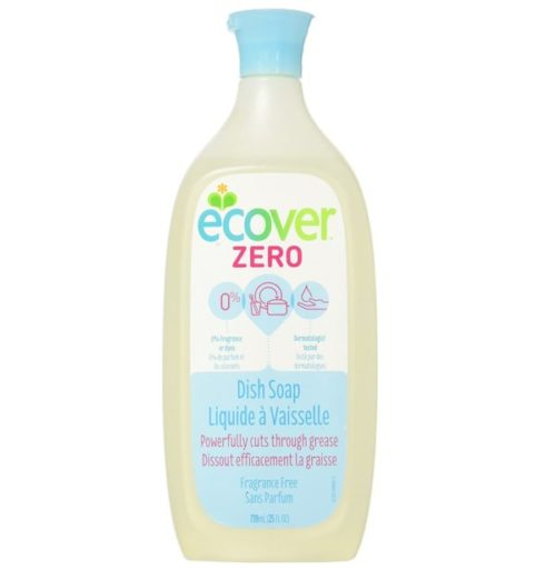 11. Ecover Natural Liquid Dish Soap Fragrance Free