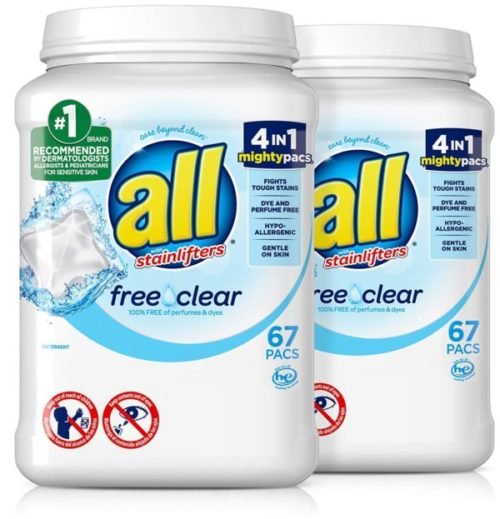 4. All Mighty Pacs Liquid Laundry Detergent