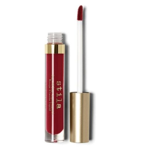 5. Stila All Day Liquid Fiery Deep Red Lipstick