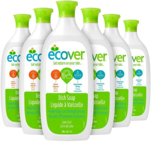 7. Ecover Lime Zest Dish Soap