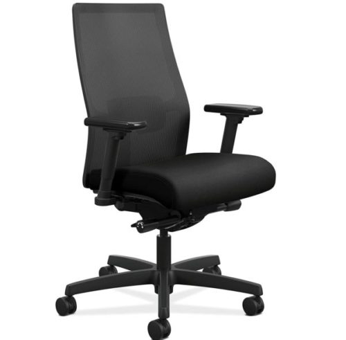 10. The HON Company Mid-Back Adjustable Office Chair with Lumbar Support