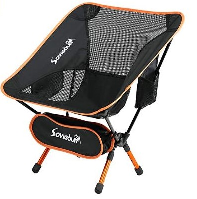 11. SOVIGOUR Folding Fishing Chair Portable and Lightweight Backpacking with Carrying Bag