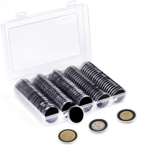 11. SPLF Coin Organizer and Protect Gasket Holder Case Storage Box Collection Supplies