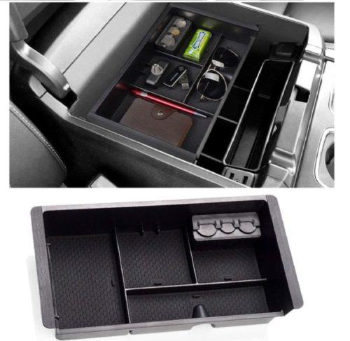 12. Janrox Center Console Tray and Coin Organizer fir Car with Armrest Secondary Storage Box