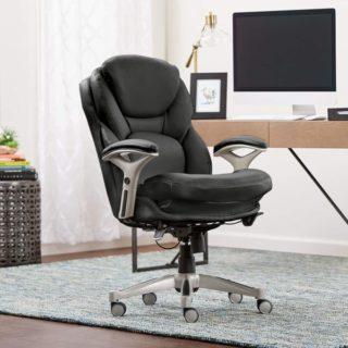 3. Serta Ergonomic Executive Office Chair with Lumbar Support Motion Technology Leather