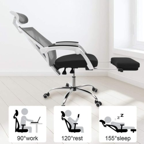 4. Hbada Ergonomic Recliner Office Chair Racing Style with Lumbar Support and Height Adjustable Seat