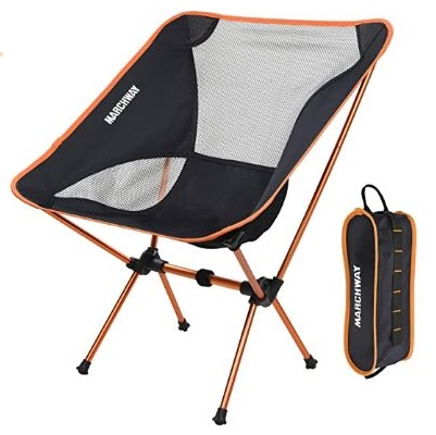4. MARCHWAY Folding Portable Compact Fishing Chair Lightweight Backpacking