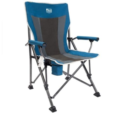 5. Timber Ridge Camping and Folding Padded Hard Arm Fishing Chair with Cup Holder