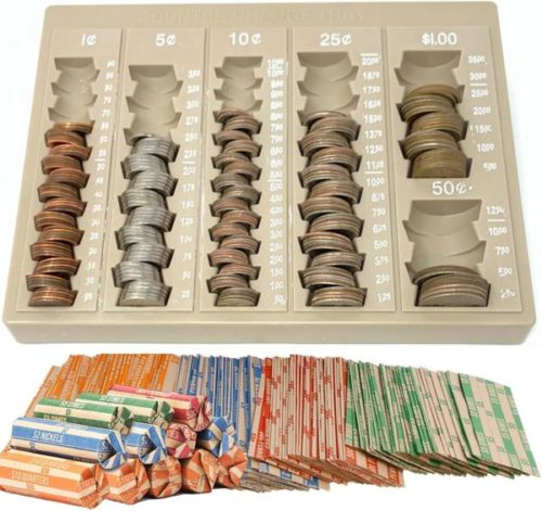 7. Budgetizer Coin Counter and Sorters Money Tray for Bank Tellers Business or Home Use