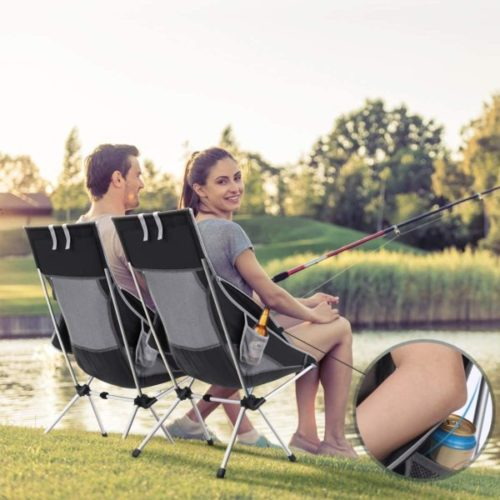 8. MOVTOTOP Lightweight Fishing Chair with Adjustable Pillow and Carry Bag