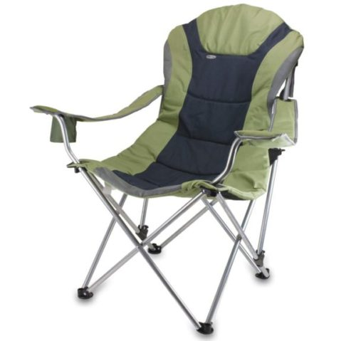 9. Oniva Picnic Time Portable Reclining Fishing Chair with Sports Padded Seat and Backrest Reclining
