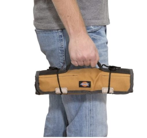1. Dickies Work Gear Small Screwdriver Organizer Roll Durable Canvas Construction