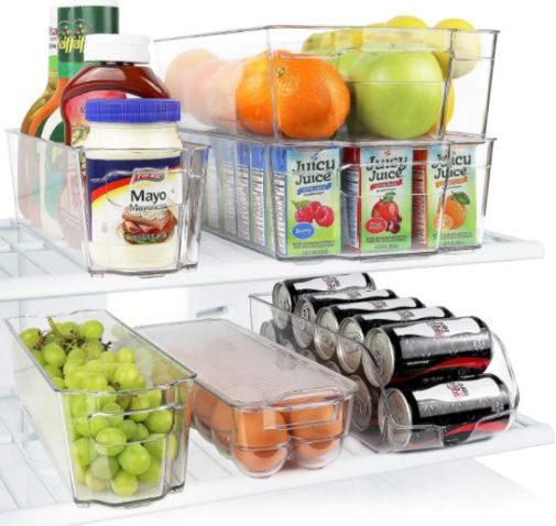 1. Greenco Refrigerator and Freezer Organizer Container with Handle